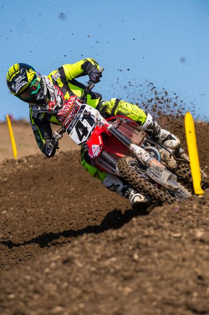 Canard's new suspension helped him snag a moto win, but will it lead to more? Photo: Simon Cudby