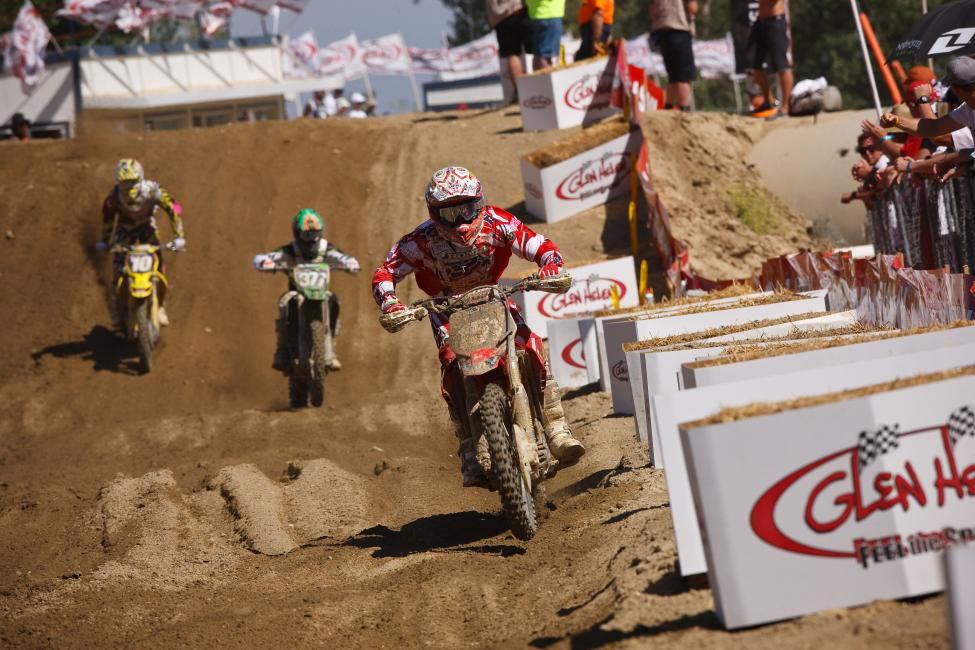Justin Barcia made a splash in his pro debut at Glen Helen. Photo: Simon Cudby