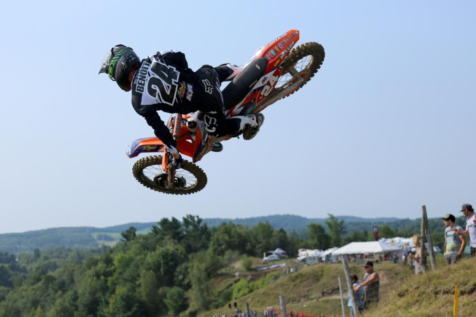 Kaven Benoit has been fast all year and is leading the MX2 Class.Photo: Billy Rainford/Directmotocross.com