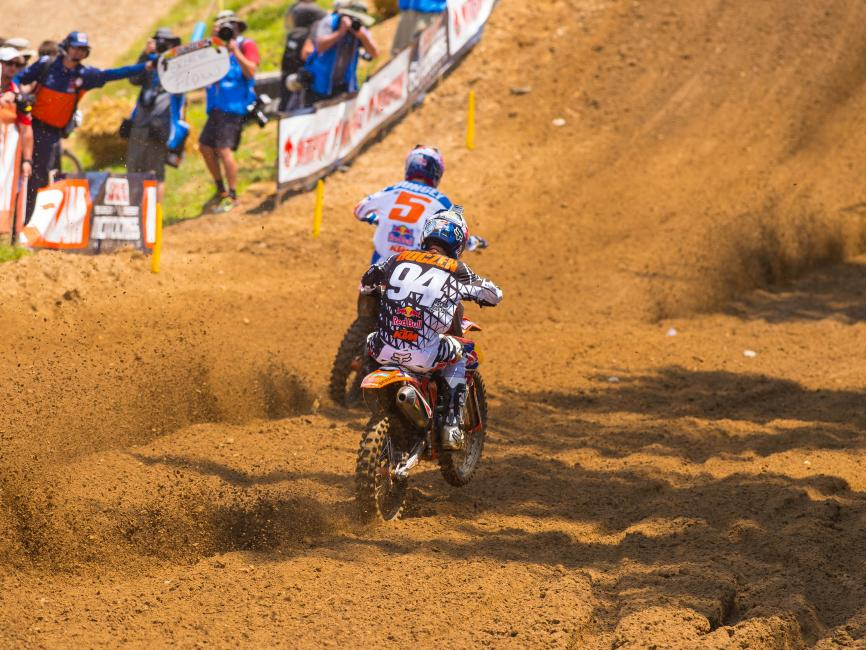 We could go on and on about the rarity of teammate battles like this, but in reality, we rarely see the 450 Nationals this close at all, no matter who is racing.Photo: Simon Cudby