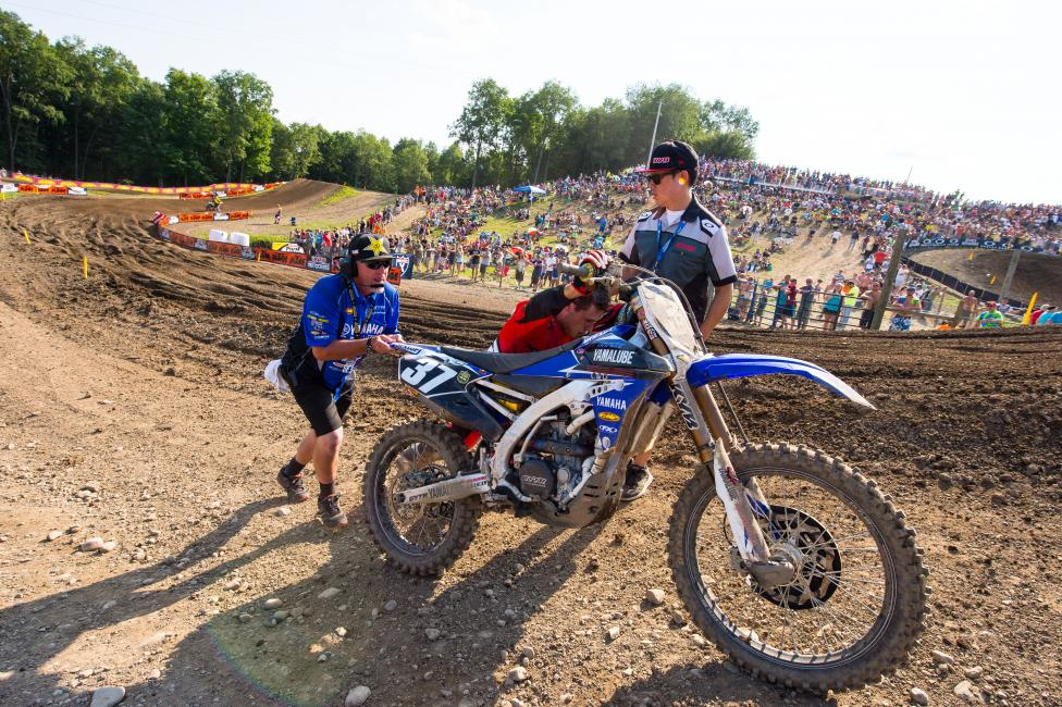 Not a great day at Unadilla for Cooper Webb.Photo: Simon Cudby