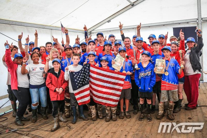 Congrats, Team USA! Photo: MXGP