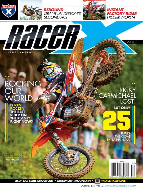 Ken Roczen graces the cover of the brand new Racer X Illustrated.