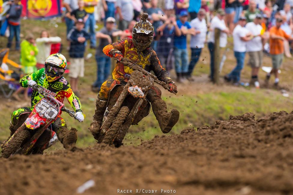 Savatgy and Nelson battled for the lead in the second moto. Yes, Savatgy and Nelson! Good for those guys.Photo: Cudby