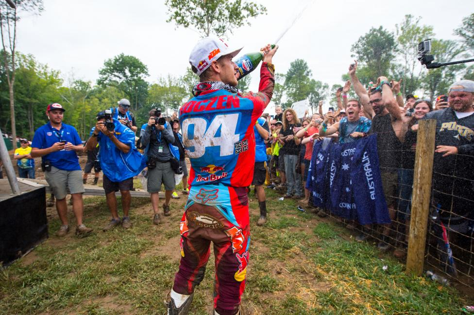 Roczen was taking some heat on social media lately, so he backed out of there and handled his business on the track.Photo: Simon Cudby