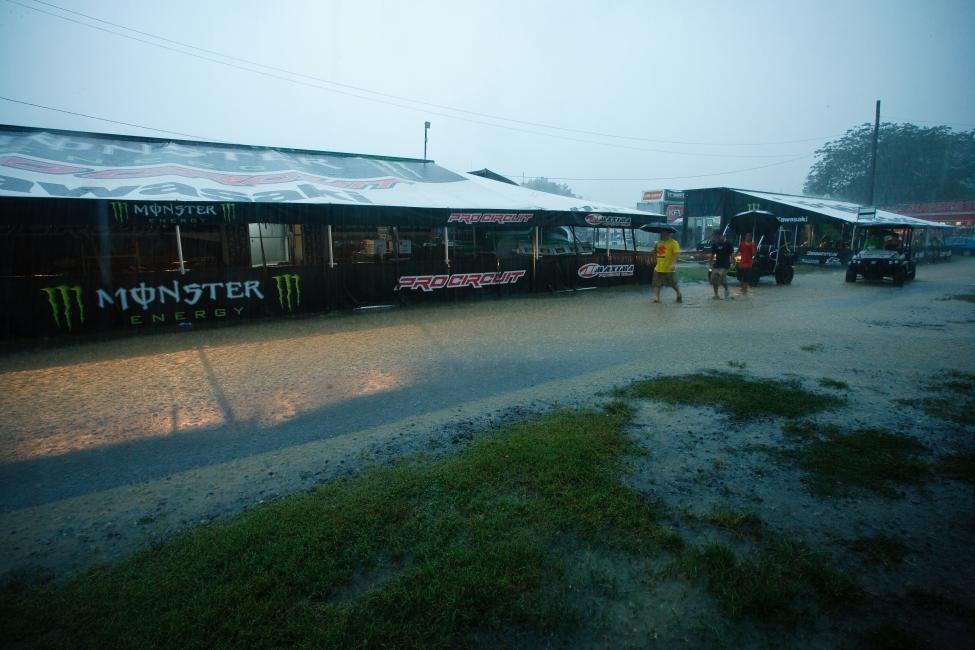 Budds Creek in 2009 was more of a rain race than a mudder.