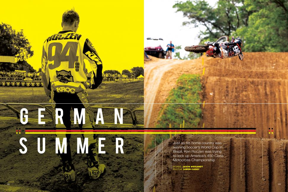 "Read ""German Summer"" in the October 2014 issue of Racer X.Photo: Simon Cudby"