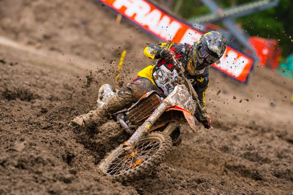 Sipes captured his first career 450 podium at Indiana. Photo: Simon Cudby