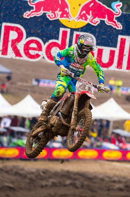 For the second straight week, Trey Canard won a moto. Photo: Simon Cudby