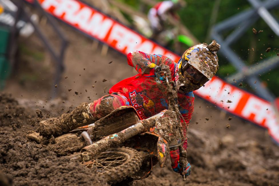 Ken Roczen answered the bell in Indiana.Photo: Simon Cudby