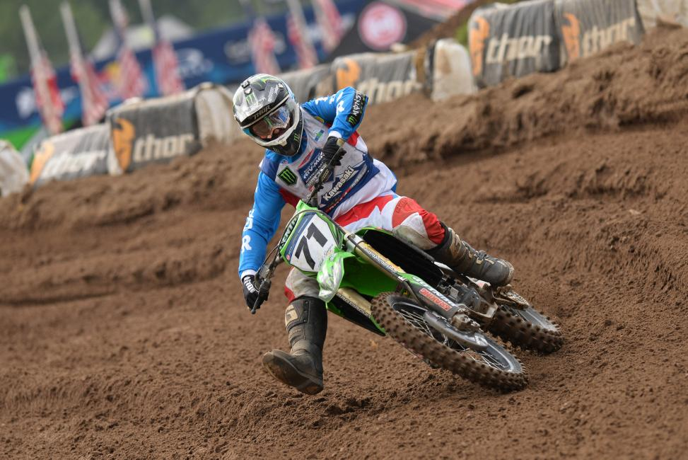 Gaines finished fourth overall in the 450 A class at Loretta Lynn's. Photo: Ken Hill