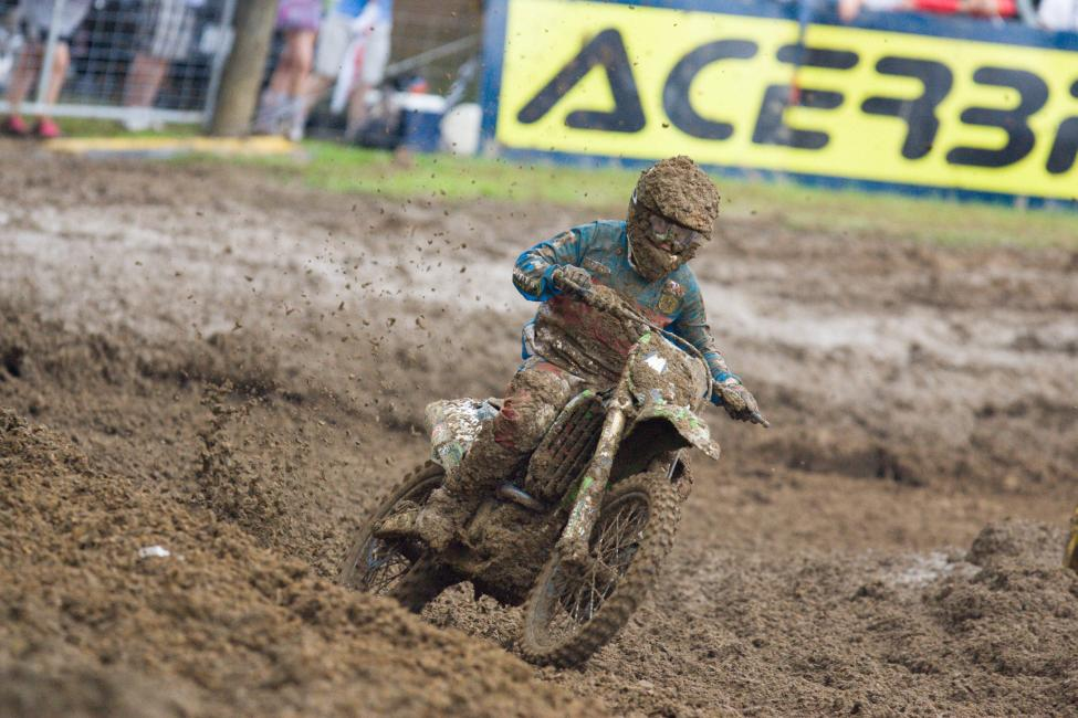 In his pro debut at the Indiana National, Gaines finished eleventh in moto one.Photo: Andrew Fredrickson