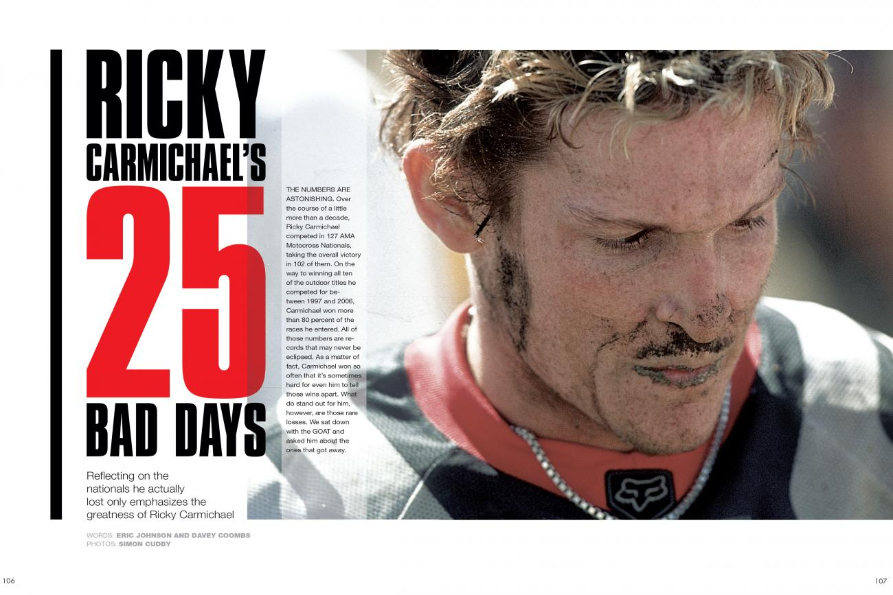 In The Mag, On The Web: Ricky Carmichael's 25 Bad Days