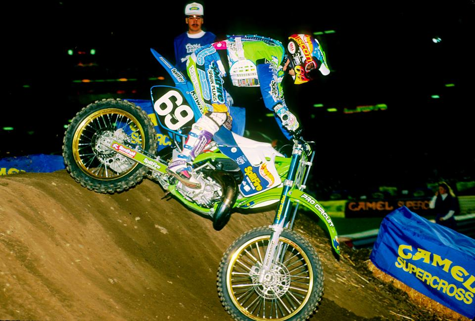 Even when they weren't the favorites, Mitch Payton's Kawasaki gang delivered titles.Photo: Racer X Archives