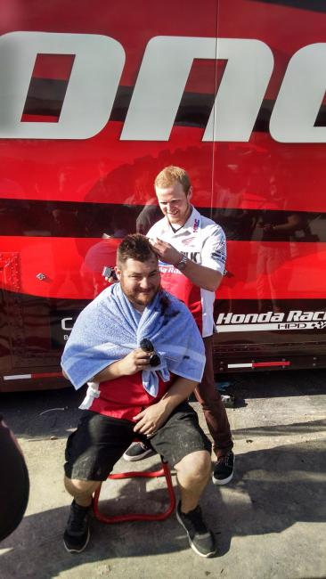Who needs a win bonus when you get to shave your wrench's head?Photo: Hansel