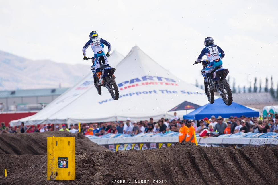It was all Star Yamaha in the first 250 Moto.Photo: Cudby