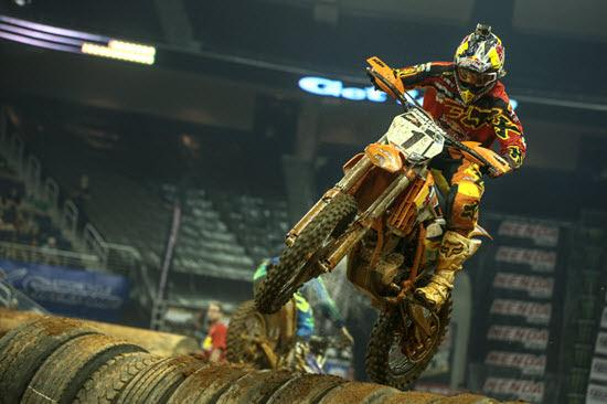 Taddy Blazusiak is tied for first with Cody Webb in the Endurocross standings