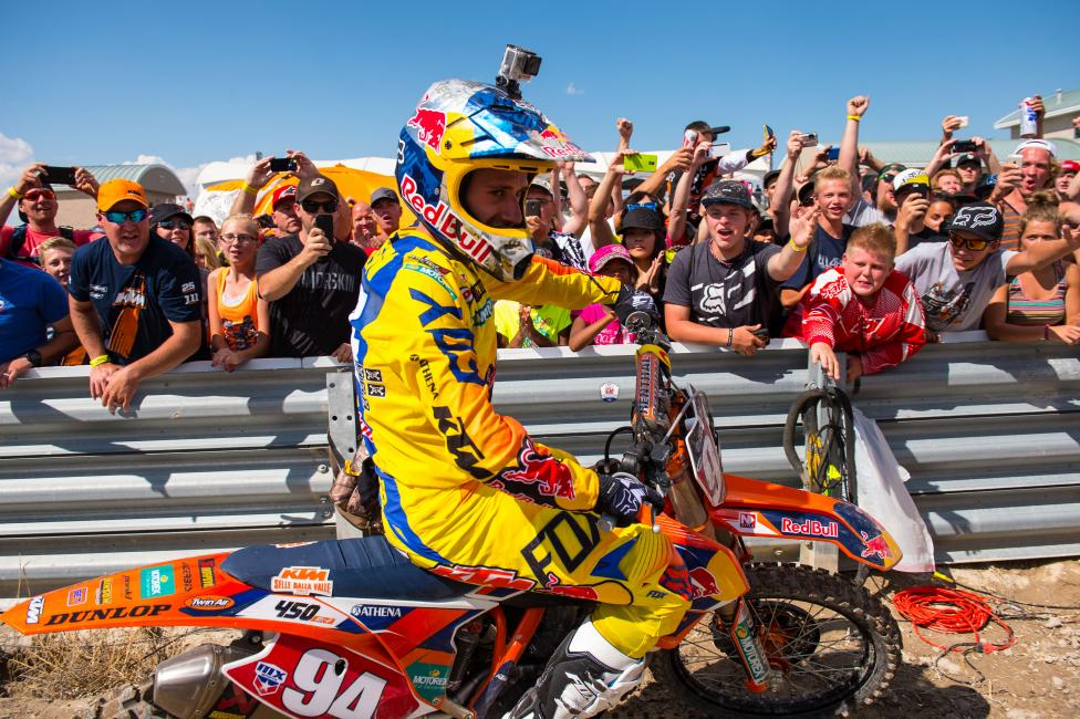Ryan Dungey gave him a run, but Ken Roczen prevailed in the end.
