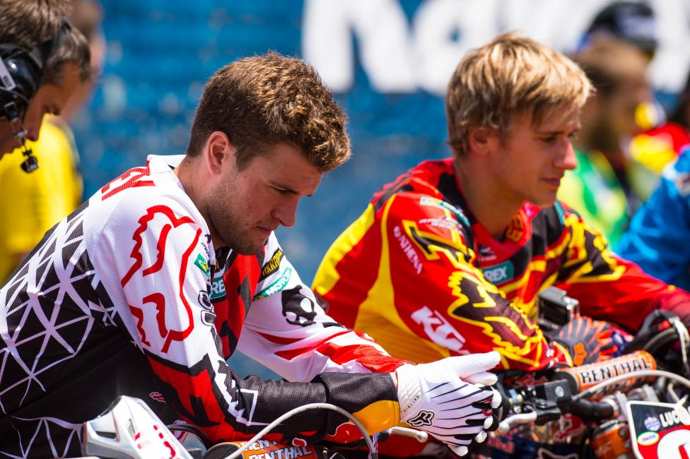 Just 5 points would separate Ryan Dungey (front) and Ken Roczen.