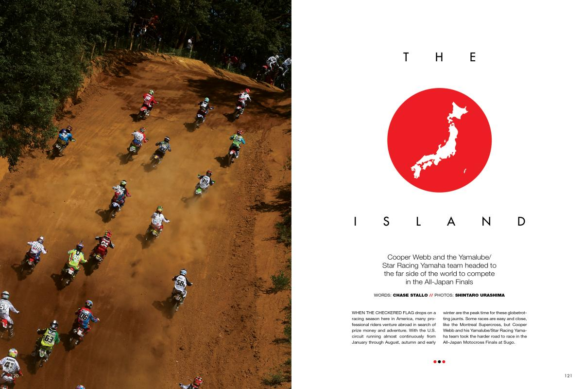 Cooper Webb and his Yamalube/Star Racing Yamaha team used their off-season break to drop in on the All-Japan Motocross Finals at Sugo. Page 120