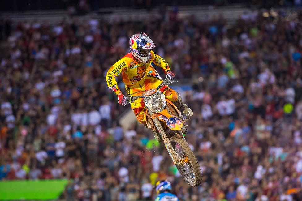 Dungey's put together some impressive finishes in Anaheim. Photo: Simon Cudby