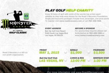Road 2 Recovery's 16th Annual Monster Energy Golf Classic