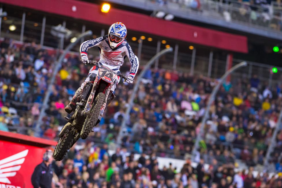 Cole Seely looks more and more comfortable on the 450 every week. Photo: Simon Cudby