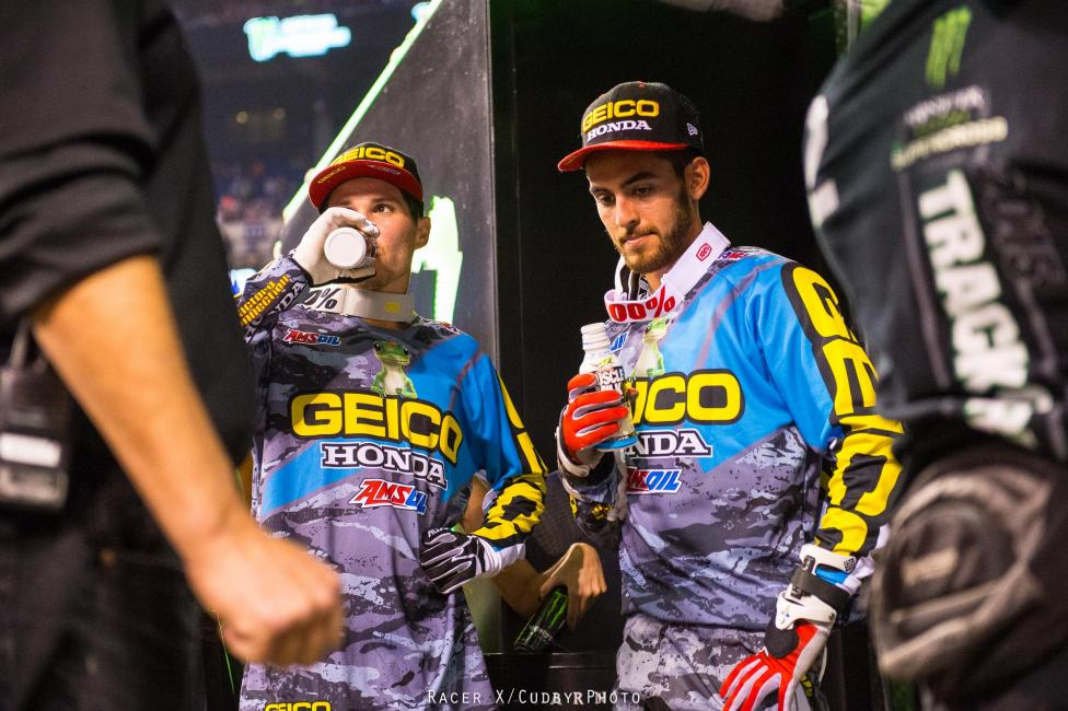 Banner night for GEICO Honda.  Photo: Cudby