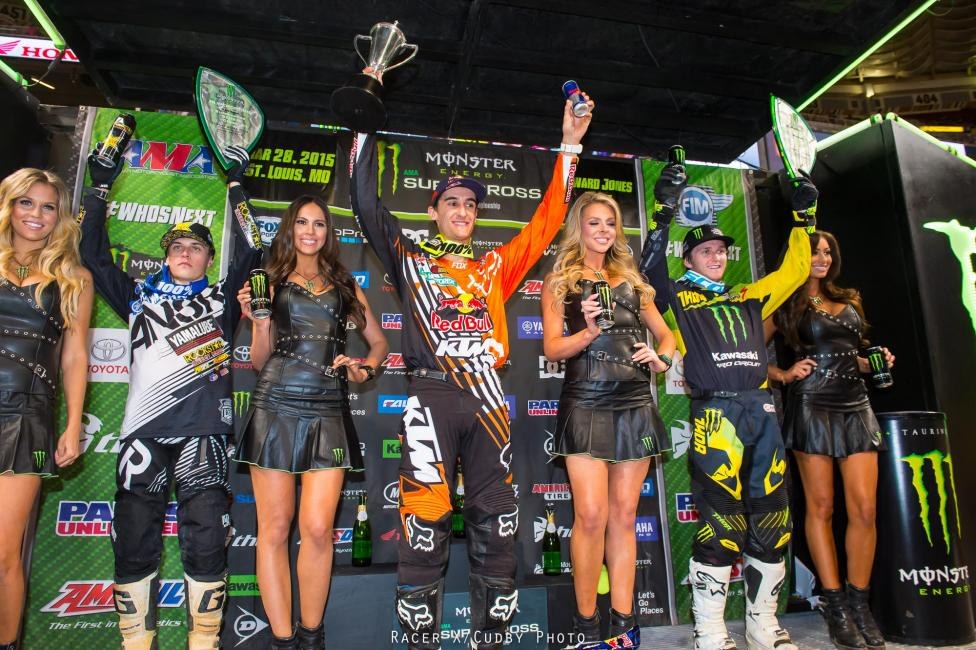 The 250 podium.Photo: Cudby