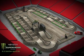 Santa Clara Animated Track Map