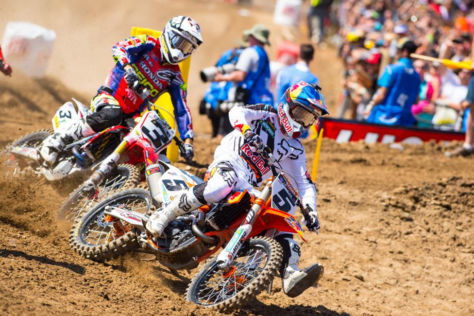 Ryan Dungey did well against everyone but Eli Tomac? Will he rebound for a win in Glen Helen?Photo: Cudby