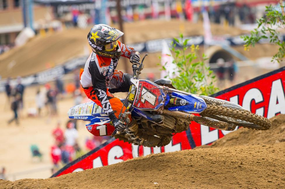 Jeremy Martin was on fire in the first moto. Photo: Cudby