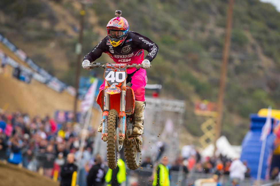 Look for more impressive results from the Lucas Oil/Troy Lee Designs KTM rider.Photo: Cudby