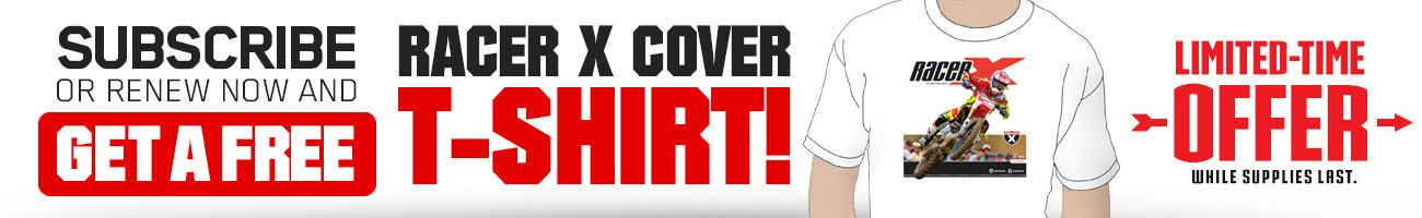 Subscribe to Racer X Illustrated and get an Eli Tomac cover t-shirt