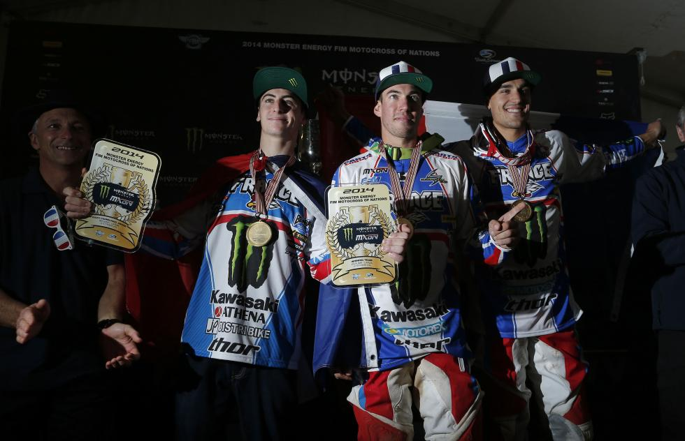 Team France won a year ago. Will Paulin (right) led them to another win?