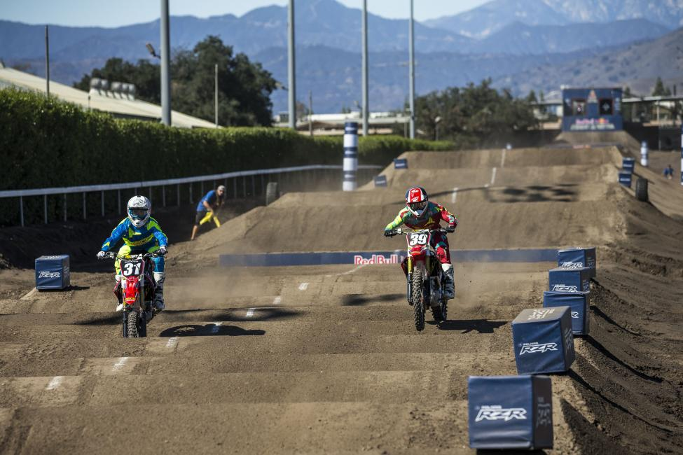The beginning of the end of RJ Hampshire's day at Red Bull Straight Rhythm.