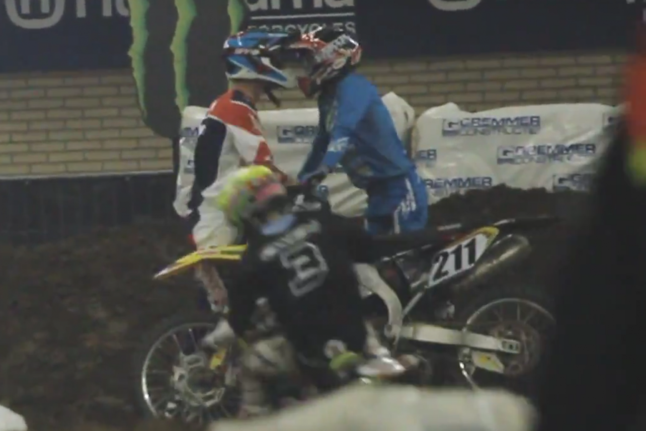 Tempers Flare at Dutch Supercross