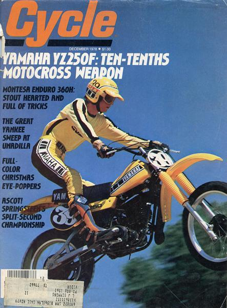 Mike Bell was the youngest member of Team Yamaha, waiting in the wings but on the cover of Cycle magazine in December '78.