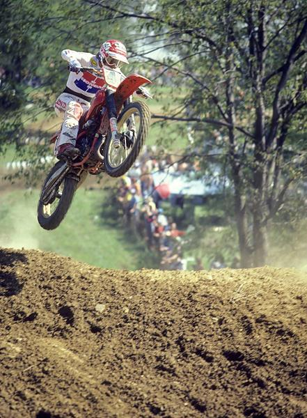 Johnny O'Mara won his first AMA National in 1981, then also joined Team USA with his Honda teammates.