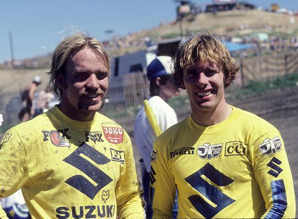 Kent Howerton (right) and Mark Barnett formed a powerful duo for Team Suzuki in the early 80's.
