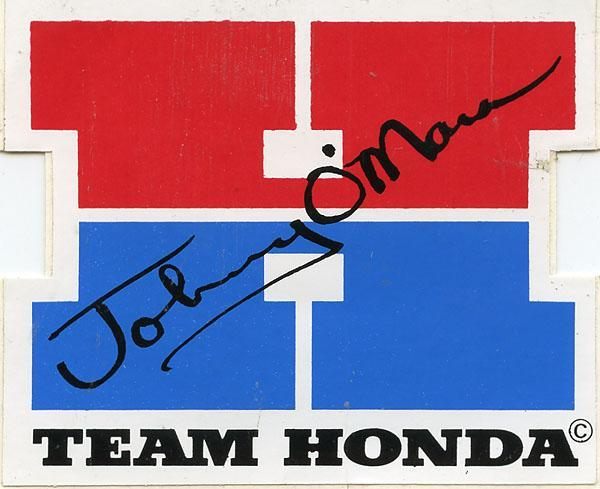 Honda put out a series of cool team and individual stickers in the early to mid 80's.