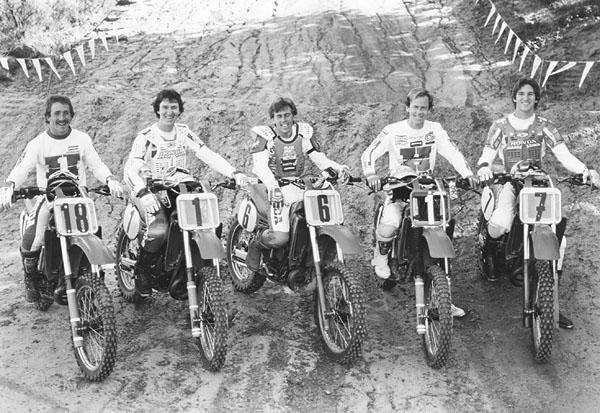 Team Honda had a formable team in '84 with Chandler, Bailey, Hannah, O'Mara and Lechien.