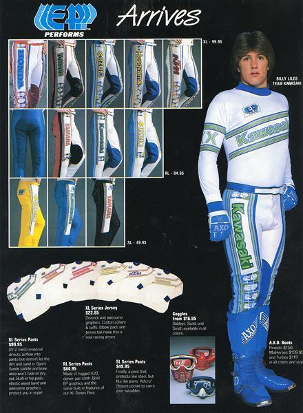 Billy Liles modeling for the clothing company EP Racing.