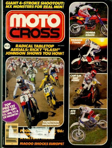 Motocross Magazine was a short lived publication in the mid-80's. That's Johnny O'Mara leading Scott Burnworth.