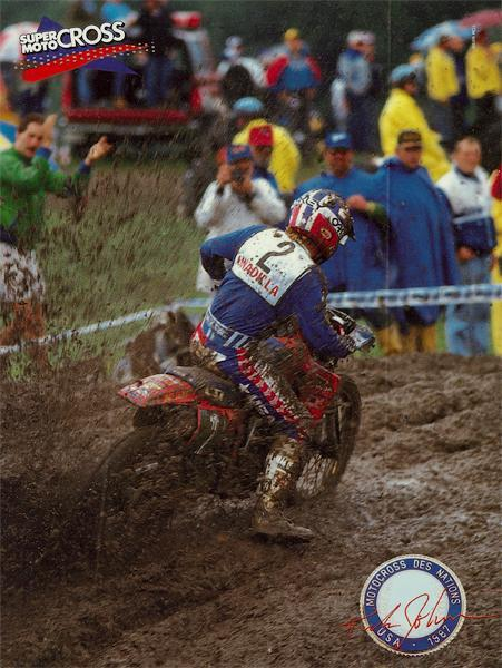 Ricky Johnson would join Wardy and Hannah on Team USA at the '87 Motocross des Nations at Unadilla, where they took yet another win.