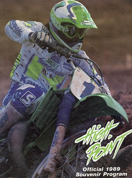 Jeff Ward graces the cover 1989 High Point souvenir program.