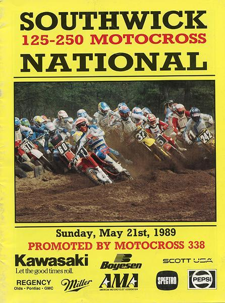 That's Pat Barton on the Southwick program cover.