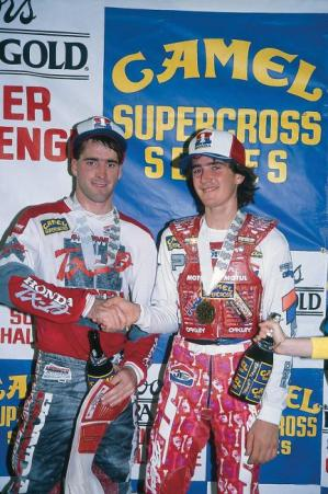 Stanton and Bayle were still getting along as Honda teammates in 1990. That wouldn't last..