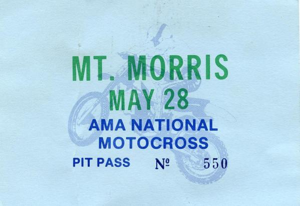 Pit pass for the 1990 High Point National.