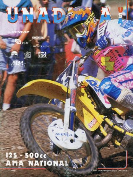 Guy Cooper on the cover of the 1991 Unadilla program.